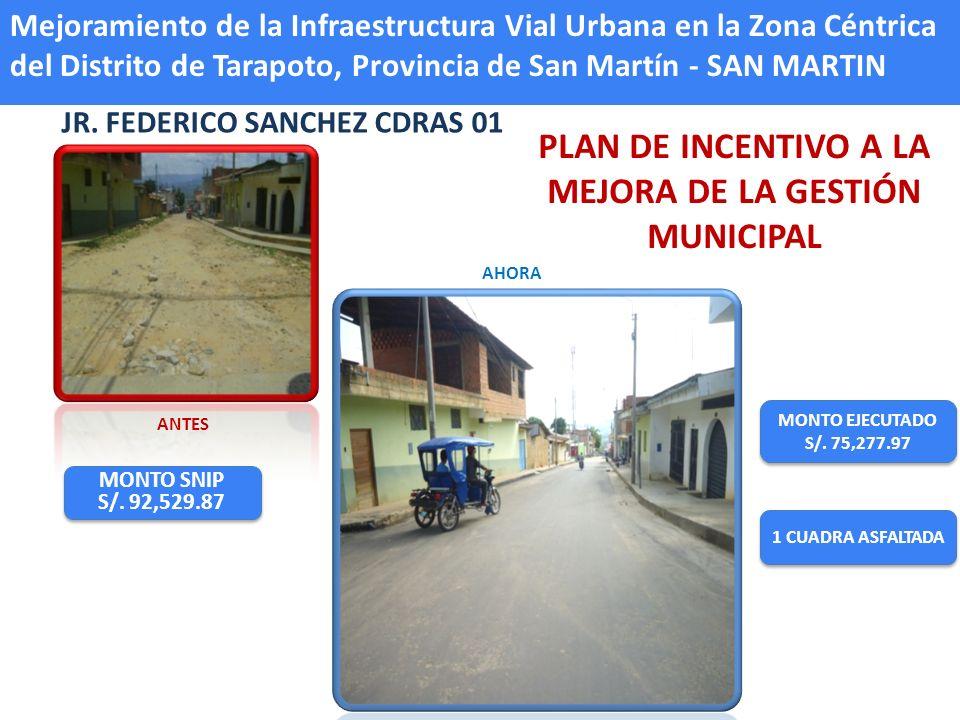 JR.ALONSO DE ALVARADO CDRAS. DEL 06 AL 09 MONTO EJECUTADO S/.