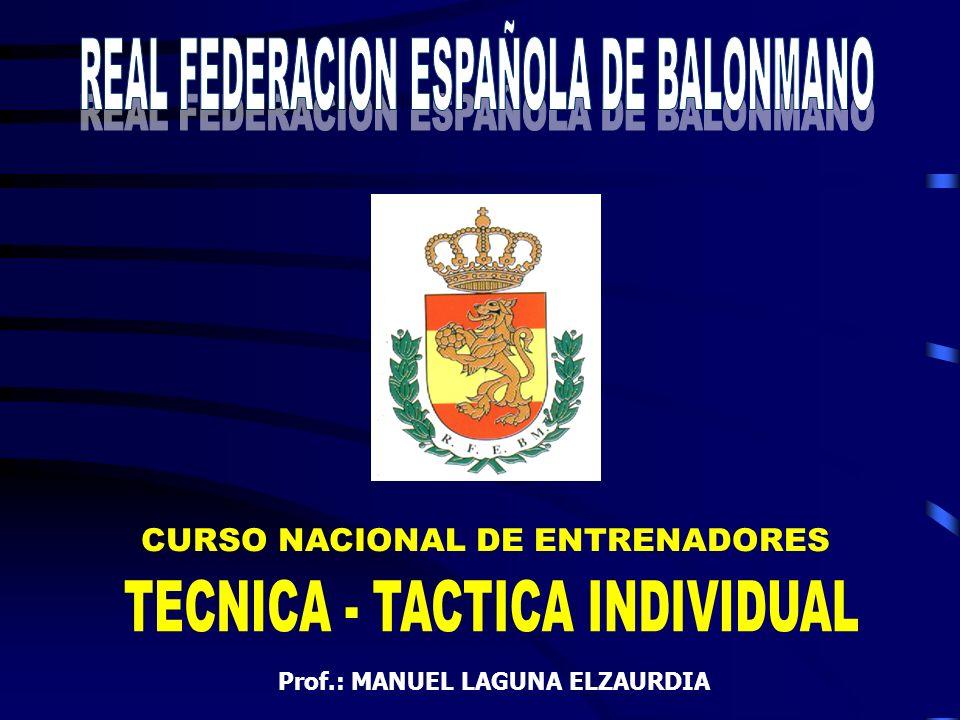 CURSO NACIONAL DE ENTRENADORES Prof.: MANUEL LAGUNA ELZAURDIA