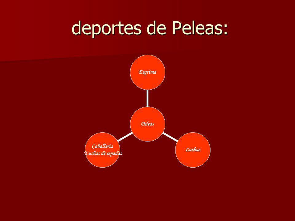 deportes de Peleas: deportes de Peleas: Peleas EsgrimaLuchas Caballería (Luchas de espadas