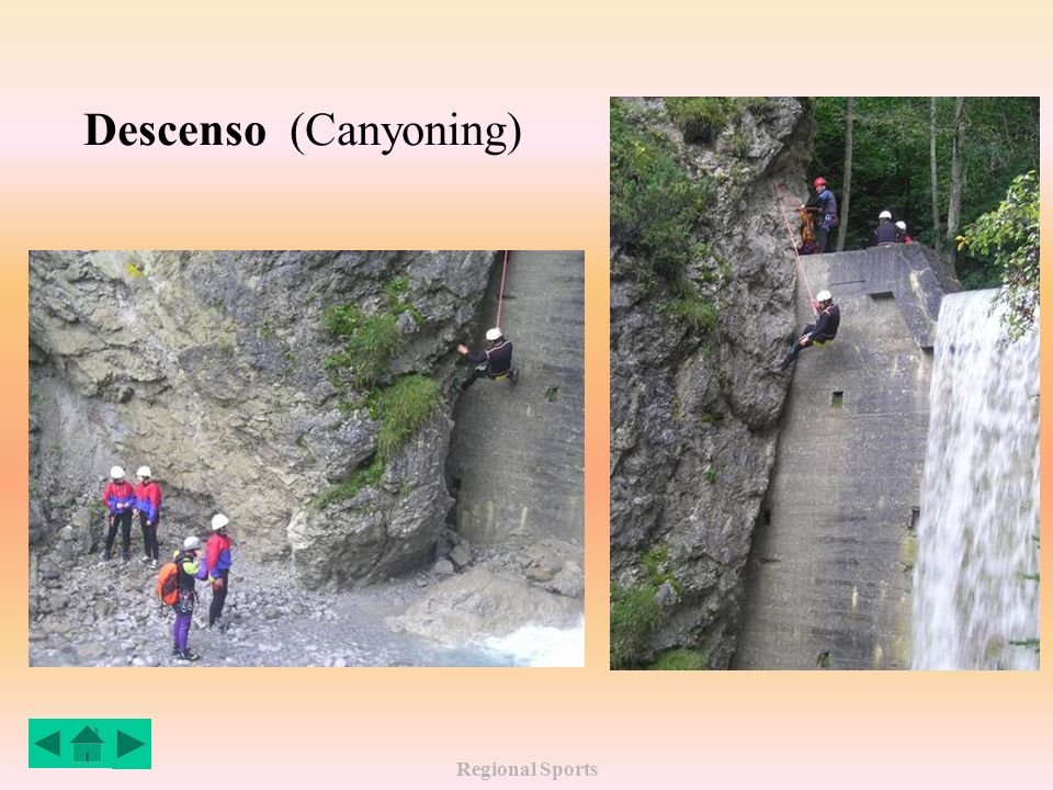 Regional Sports Descenso (Canyoning)