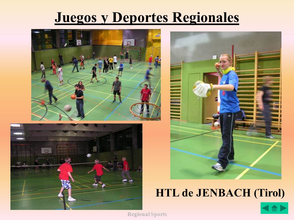 Regional Sports Juegos y Deportes Regionales Gimnasio del HTL de JENBACH (Tirol)