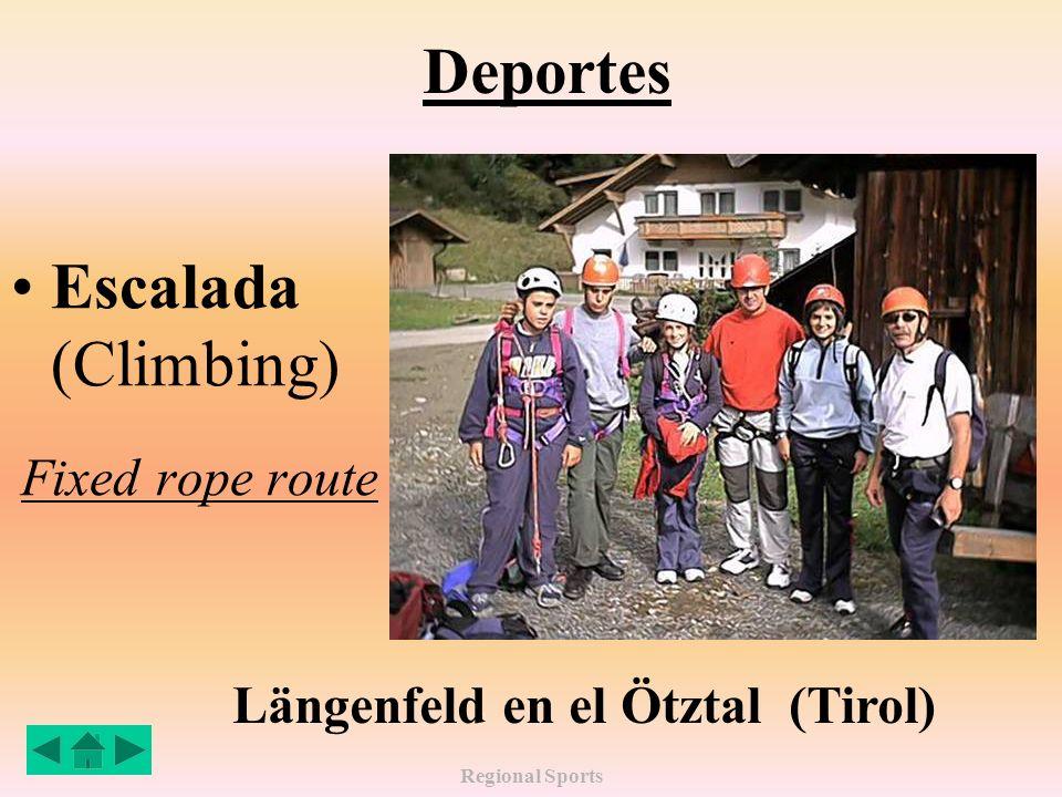 Regional Sports Deportes Escalada (Climbing) Fixed rope route Längenfeld en el Ötztal (Tirol)