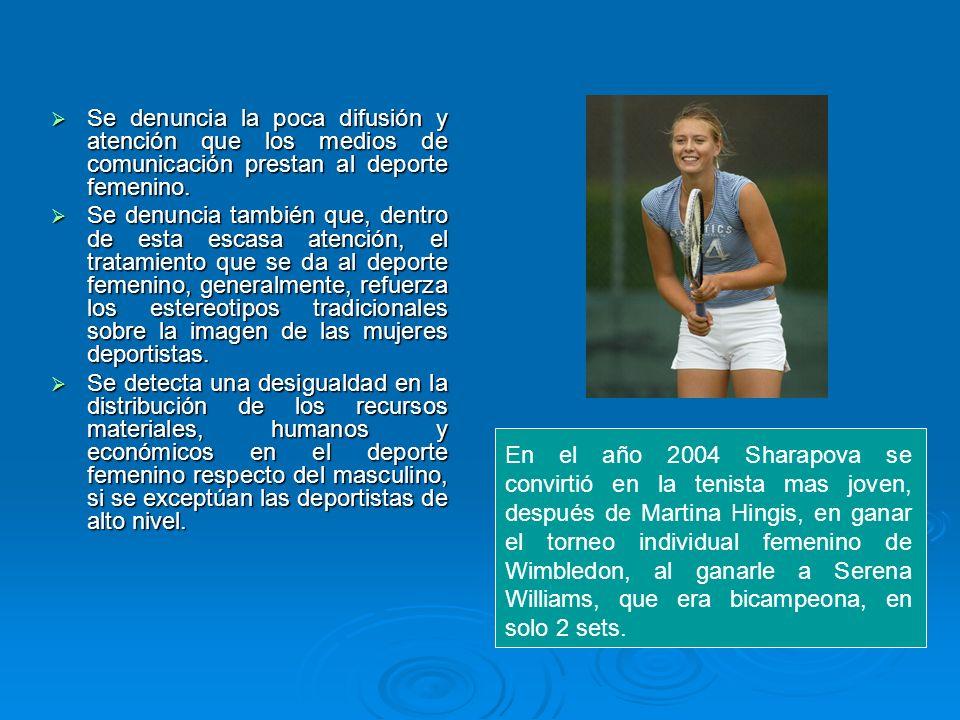 La revista Mujer Hoy en su edicion Noviembre de 2006 publica: En su artículo de nominado Las 8 mejores tenistas del mundo luchan por la igualdad donde María Sharapova comentaba el tenis femenino está mejor valorado, pero desde Wimbledon mandan el mensaje de que no merecemos la misma remuneración .