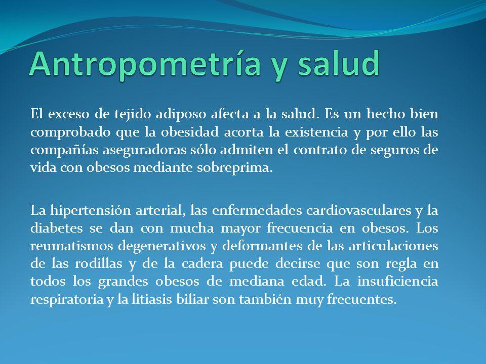 El exceso de tejido adiposo afecta a la salud.