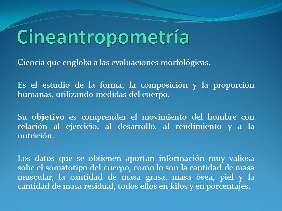 Ciencia que engloba a las evaluaciones morfológicas.