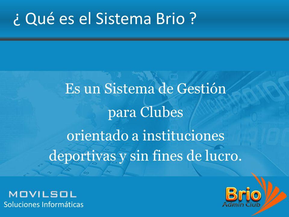 Es un Sistema de Gestión para Clubes orientado a instituciones deportivas y sin fines de lucro.