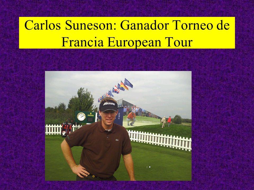 Carlos Suneson: Ganador Torneo de Francia European Tour