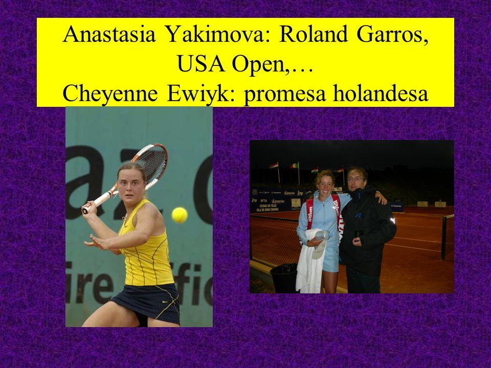Anastasia Yakimova: Roland Garros, USA Open,… Cheyenne Ewiyk: promesa holandesa