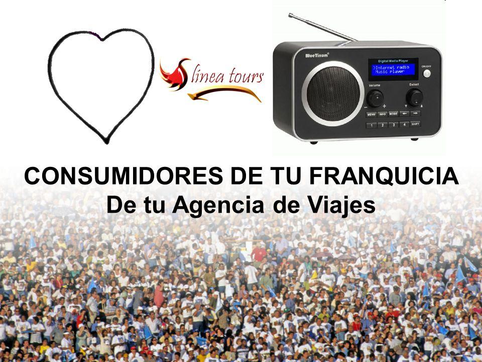 CONSUMIDORES DE TU FRANQUICIA De tu Agencia de Viajes