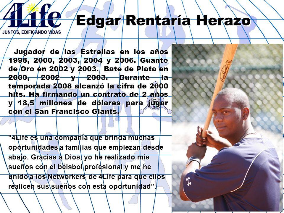 Edgar Rentaría Herazo Jugador de las Estrellas en los años 1998, 2000, 2003, 2004 y 2006. Guante de Oro en 2002 y 2003. Bate de Plata en 2000, 2002 y