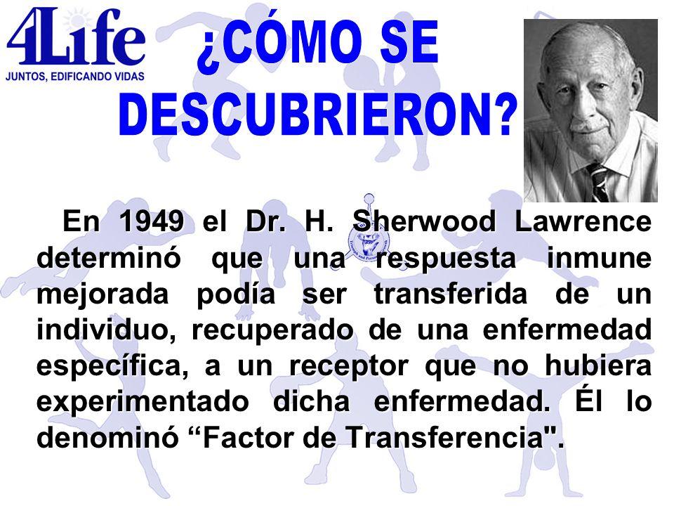 En 1949 el Dr. H. Sherwood Lawrence determinó que una respuesta inmune mejorada podía ser transferida de un individuo, recuperado de una enfermedad es