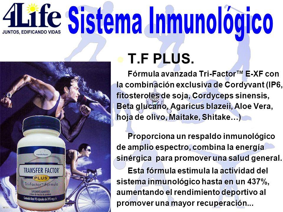 T.F PLUS. T.F PLUS. Fórmula avanzada Tri-Factor E-XF con la combinación exclusiva de Cordyvant (IP6, fitosteroles de soja, Cordyceps sinensis, Beta gl