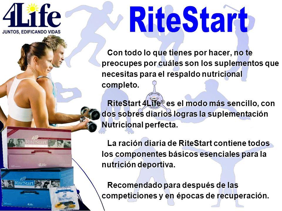 Con todo lo que tienes por hacer, no te preocupes por cuáles son los suplementos que necesitas para el respaldo nutricional completo. RiteStart 4Life
