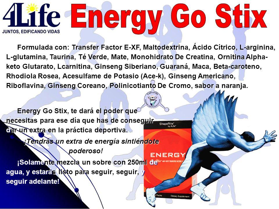 Energy Go Stix, te dará el poder que necesitas para ese día que has de conseguir dar un extra en la práctica deportiva. ¡Tendrás un extra de energía s