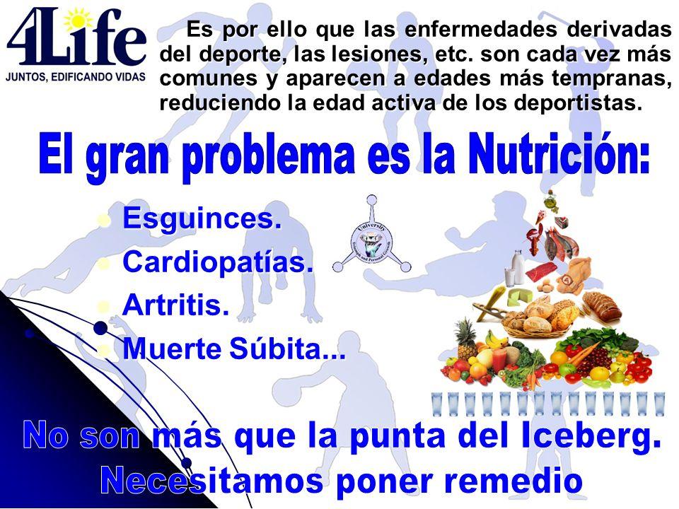 Es por ello que las enfermedades derivadas del deporte, las lesiones, etc. son cada vez más comunes y aparecen a edades más tempranas, reduciendo la e
