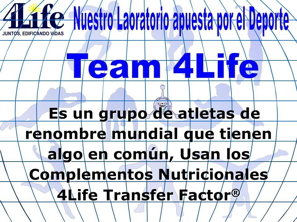 Es un grupo de atletas de renombre mundial que tienen algo en común, Usan los Complementos Nutricionales 4Life Transfer Factor ®