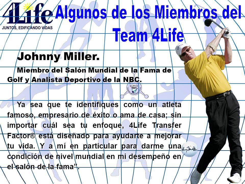 Johnny Miller. Miembro del Salón Mundial de la Fama de Golf y Analista Deportivo de la NBC. Ya sea que te identifiques como un atleta famoso, empresar