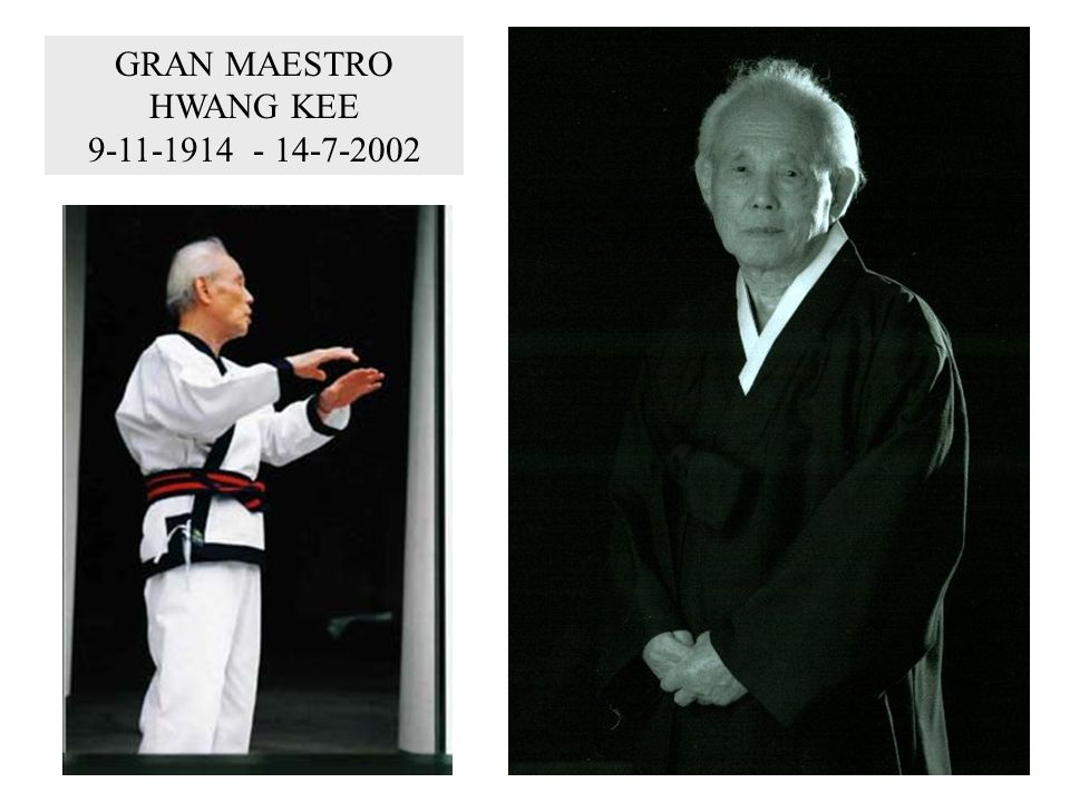 GRAN MAESTRO HWANG KEE 9-11-1914 - 14-7-2002