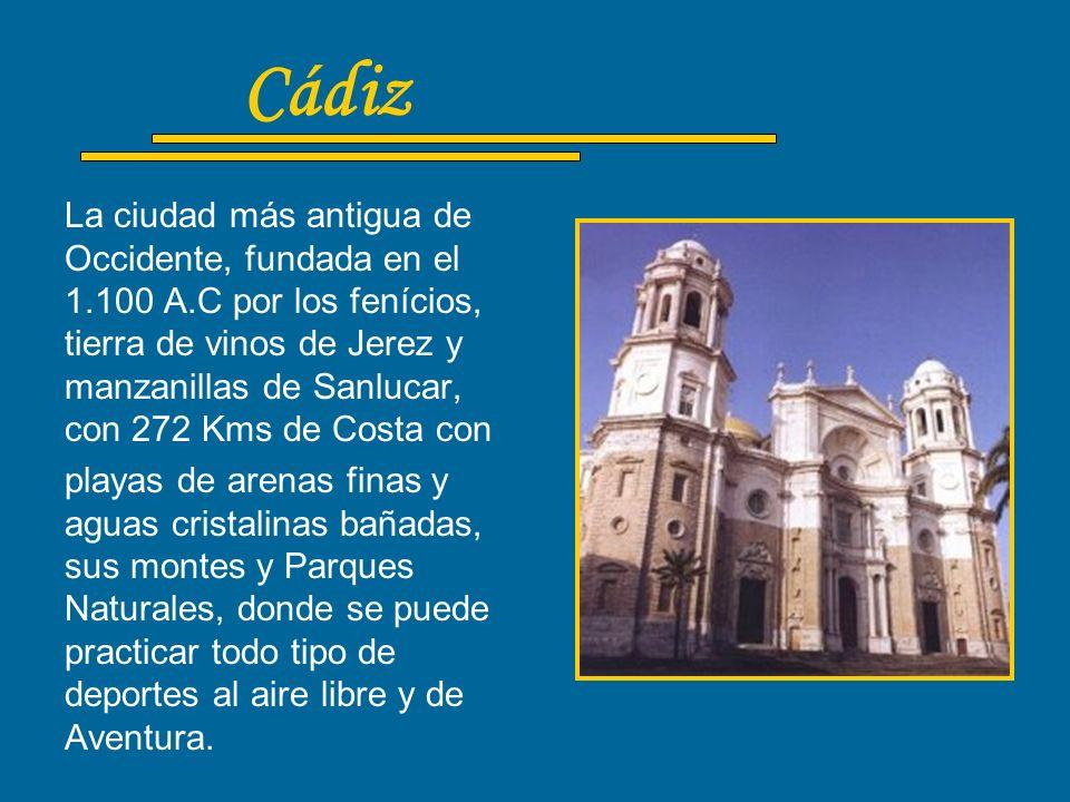 Almería Es una de las provincias de Andalucía con más diversidad de oferta turística, con 214 Kms de Costa muchos de ellos playas luminosas, 3100 hora