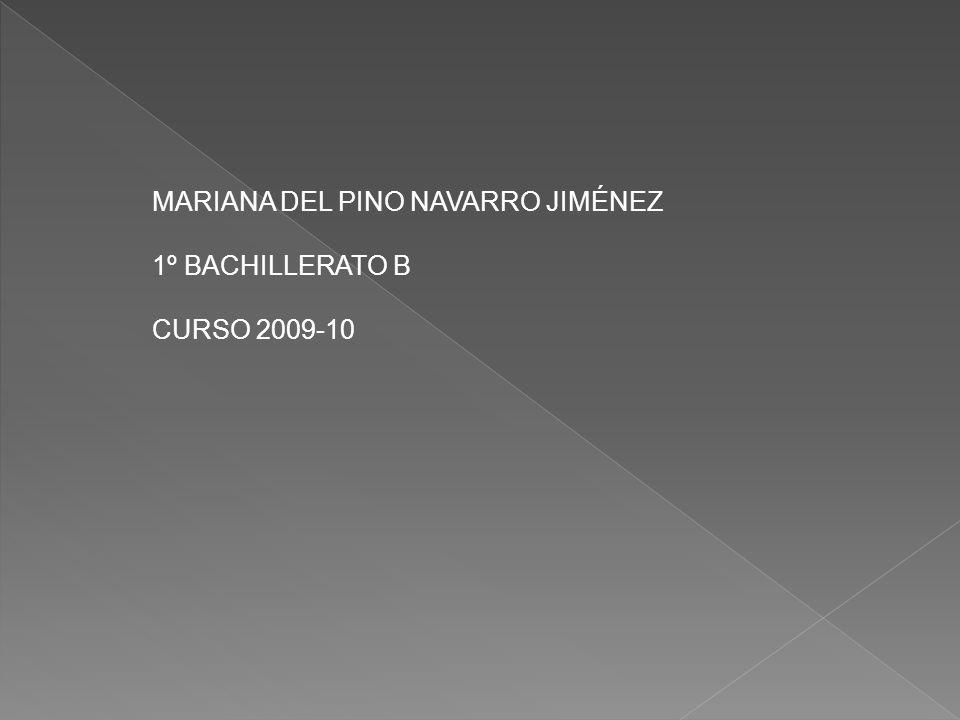 MARIANA DEL PINO NAVARRO JIMÉNEZ 1º BACHILLERATO B CURSO 2009-10