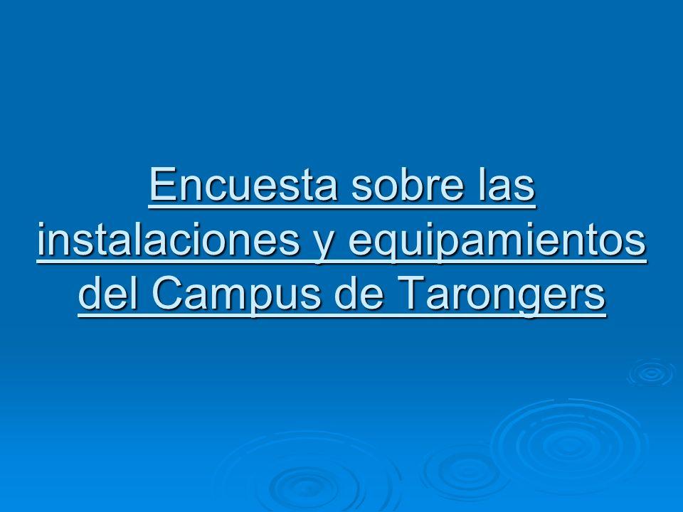 Encuesta sobre las instalaciones y equipamientos del Campus de Tarongers