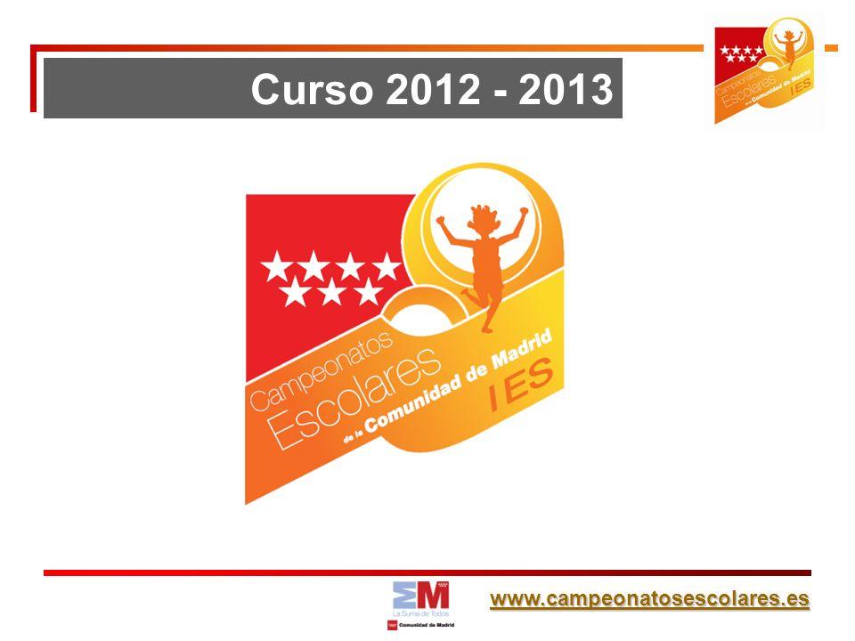 www.campeonatosescolares.es Curso 2012 - 2013