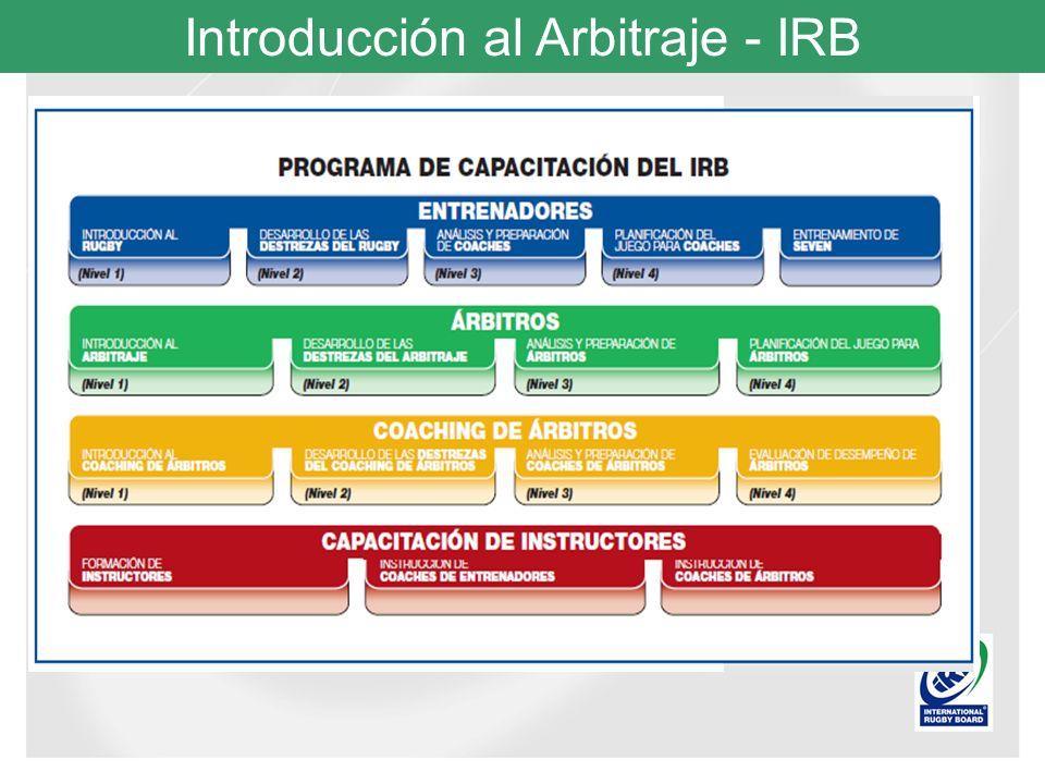 Introducción al Arbitraje - IRB Señales Terciarias: Por ejemplo la señal para formar la melé, herida sangrante, llamada al físio o médico y señal para el controlador de tiempo para que arranque y detenga el tiempo.