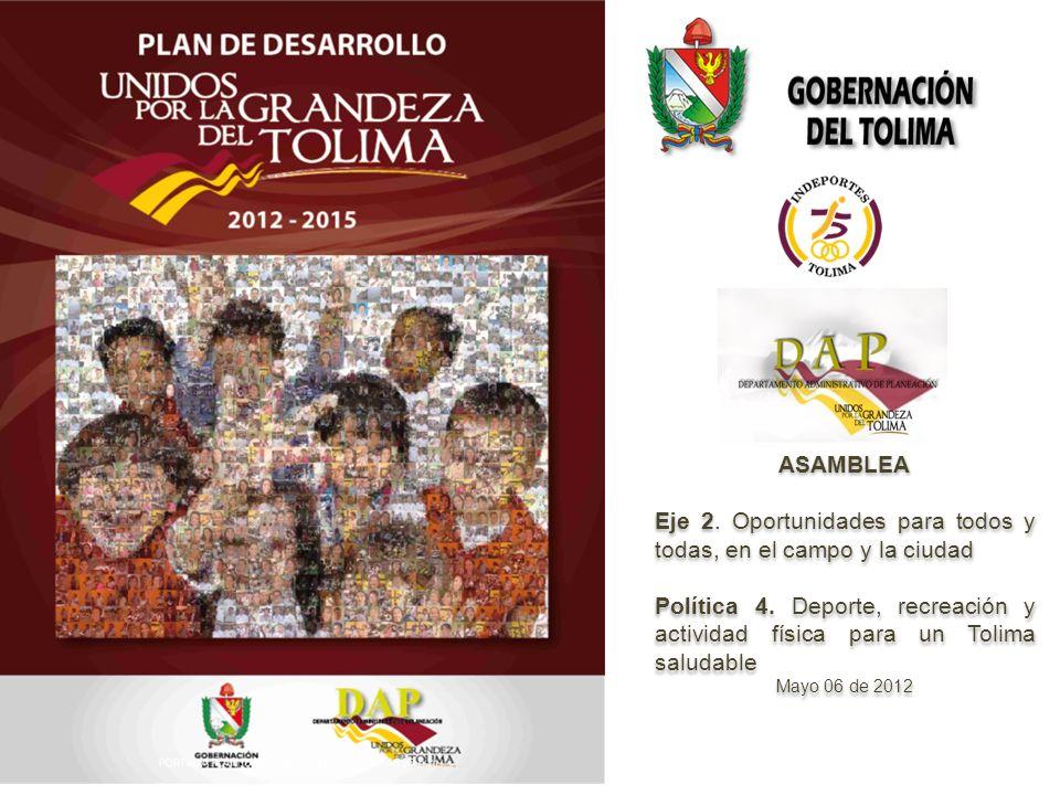 ASAMBLEA Eje 2. Oportunidades para todos y todas, en el campo y la ciudad Política 4.