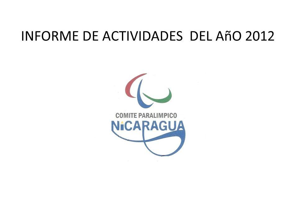 DURANTE EL Añ0 2012 SE REALIZARON LAS SIGUIENTES ACTIVIDADES Que a continuación detallamos: Se realizaron 102 Visitas a los distintos municipios donde tenemos atletas con Discapacidad.