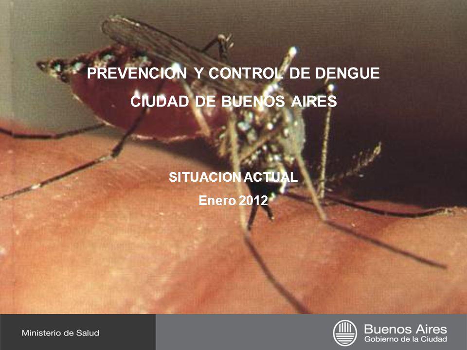 Departamento de Epidemiología Ministerio de Salud - GCBA PREVENCION Y CONTROL DE DENGUE CIUDAD DE BUENOS AIRES SITUACION ACTUAL Enero 2012