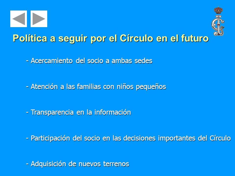 - Acercamiento del socio a ambas sedes - Atención a las familias con niños pequeños - Transparencia en la información - Participación del socio en las