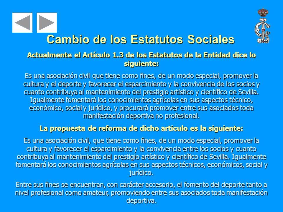 Actualmente el Artículo 1.3 de los Estatutos de la Entidad dice lo siguiente: Es una asociación civil que tiene como fines, de un modo especial, promo