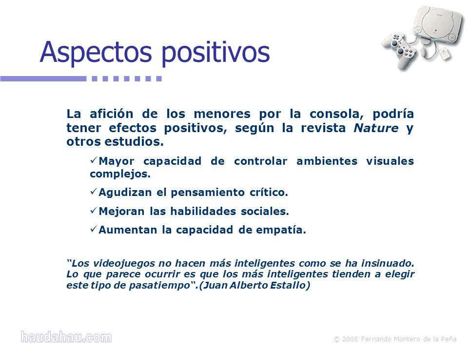 © 2005 Fernando Montero de la Peña La afición de los menores por la consola, podría tener efectos positivos, según la revista Nature y otros estudios.
