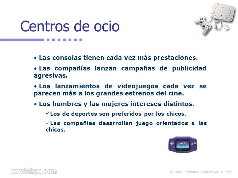 © 2005 Fernando Montero de la Peña Las consolas tienen cada vez más prestaciones. Las compañías lanzan campañas de publicidad agresivas. Los lanzamien