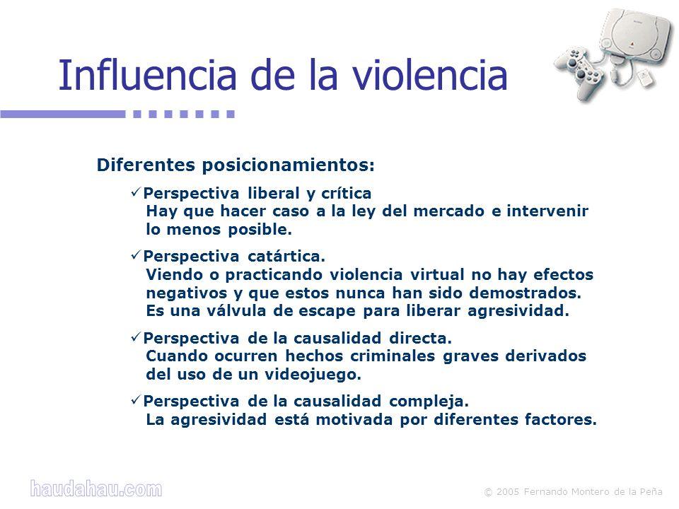 © 2005 Fernando Montero de la Peña Diferentes posicionamientos: Perspectiva liberal y crítica Hay que hacer caso a la ley del mercado e intervenir lo