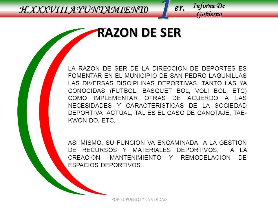 Informe De Gobierno Informe De Gobierno er.1 TITULO H.XXXVIII AYUNTAMIENT0 SELECCIÓN DE TALENTOS POR EL PUEBLO Y LA VERDAD