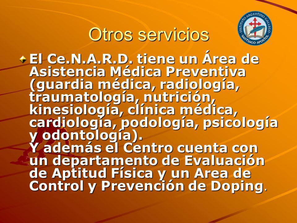 Otros servicios El Ce.N.A.R.D.