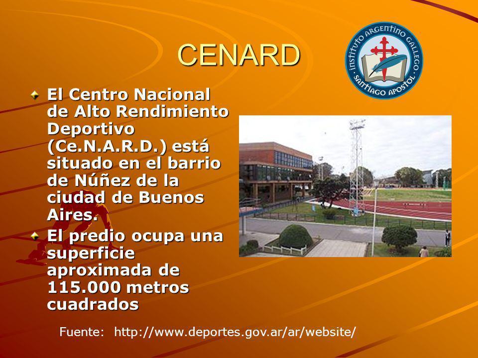 CENARD El Centro Nacional de Alto Rendimiento Deportivo (Ce.N.A.R.D.) está situado en el barrio de Núñez de la ciudad de Buenos Aires.