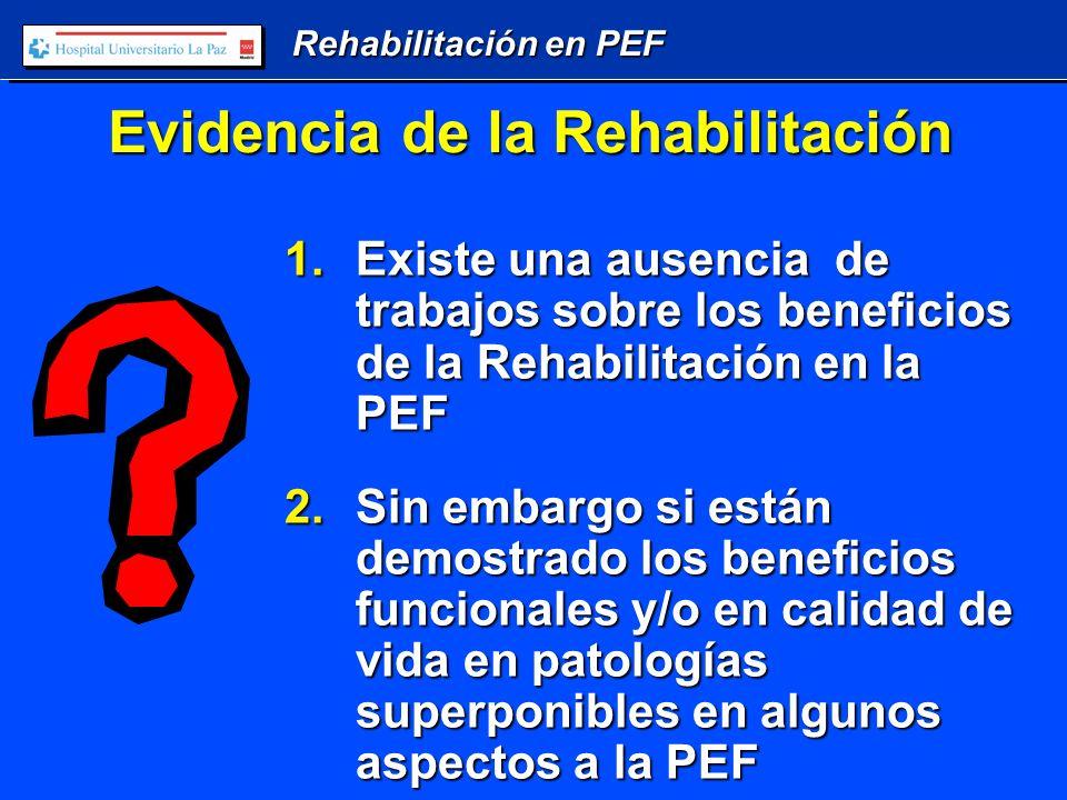 Rehabilitación en PEF Ejercicios de tronco