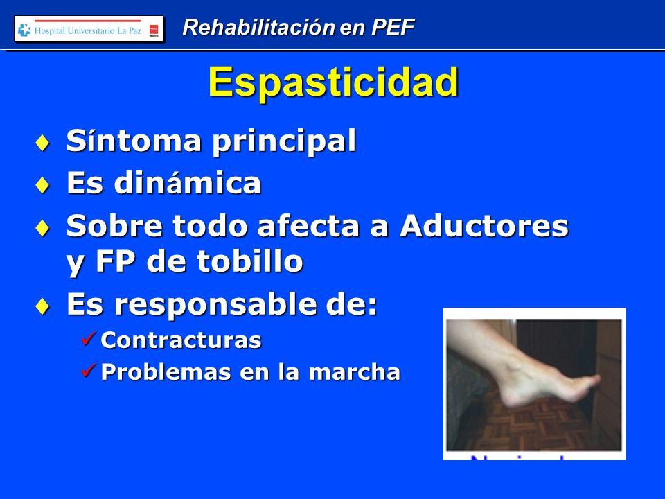 Rehabilitación en PEF Conclusiones A ú n en los m á s afectados siempre existe una intervenci ó n posible que mejore la calidad de vida.A ú n en los m á s afectados siempre existe una intervenci ó n posible que mejore la calidad de vida.