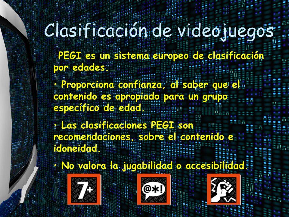 Clasificación de videojuegos PEGI es un sistema europeo de clasificación por edades.
