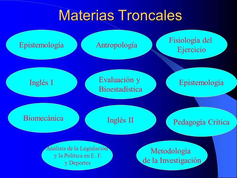 Desarrollo De La Licenciatura MATERIAS TRONCALES ÁREA ESPECIALIZACIÓN