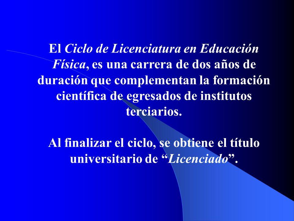 Centro Universitario Leandro N. Alem Ciclo de Licenciatura en Educación Física