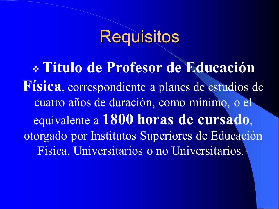 Alcances Del Título Asesorar a Instituciones Educativas en distintos niveles de su enseñanza en lo referido a la Educación Física Diseñar, gestionar y