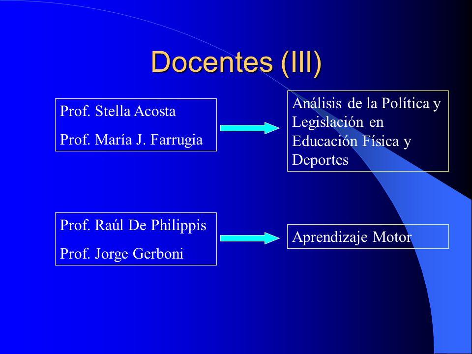 Docentes (II) Lic. Gerardo Kahan Prof. Hilda Gastaldi Prof. Adriana Gonzalo Pedagogía Cítica Metodología de la Investigación Evaluación y Bioestadísti