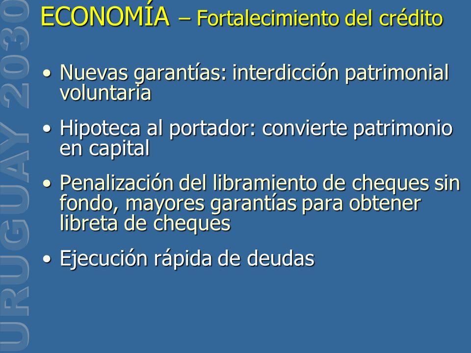 Nuevas garantías: interdicción patrimonial voluntariaNuevas garantías: interdicción patrimonial voluntaria Hipoteca al portador: convierte patrimonio