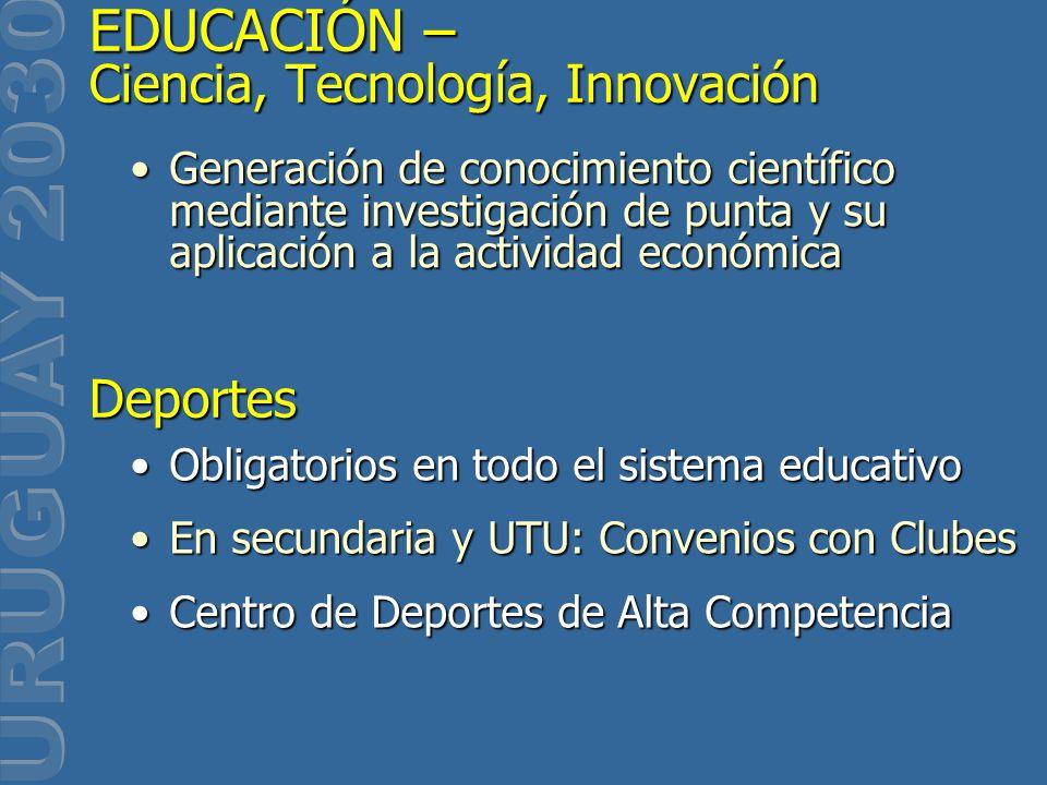Generación de conocimiento científico mediante investigación de punta y su aplicación a la actividad económicaGeneración de conocimiento científico me