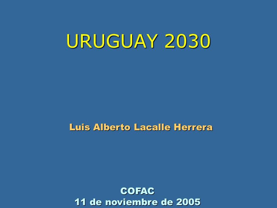URUGUAY 2030 Luis Alberto Lacalle Herrera COFAC 11 de noviembre de 2005