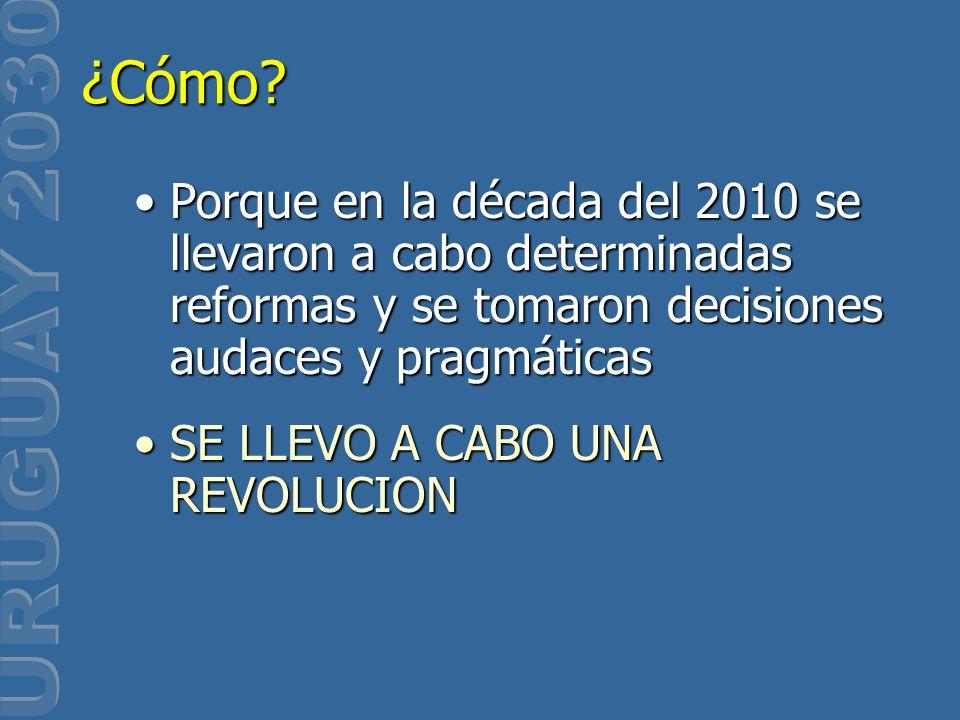 Porque en la década del 2010 se llevaron a cabo determinadas reformas y se tomaron decisiones audaces y pragmáticasPorque en la década del 2010 se lle