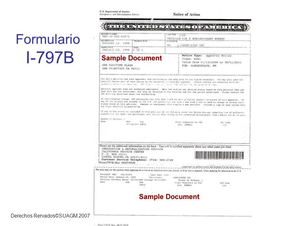 Derechos Rervados©SUAGM.2007 Formulario I-797B